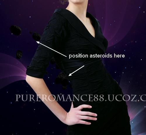 Абстрактная космическая иллюстрация в Фотошопе